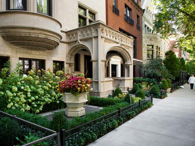 Astor Street greystone. Exquisite.